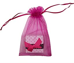 SUNGULF 100pcs Organza Pouch Bag Drawstring 4x6\