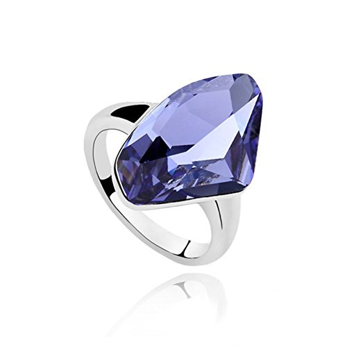 RI-100099C1-9 Fashionable Crystal Simple Ingots Inlaid Crystal Women's Ring (Steam Profile Picture compare prices)