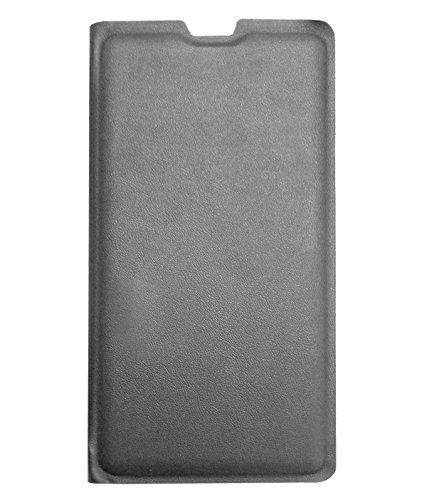 TBZ PU Leather Flip Cover Case for Yu YUREKA NOTE Yu6000 -Black