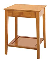 Printer Table with Drawer for Office and Home Furniture Walnut