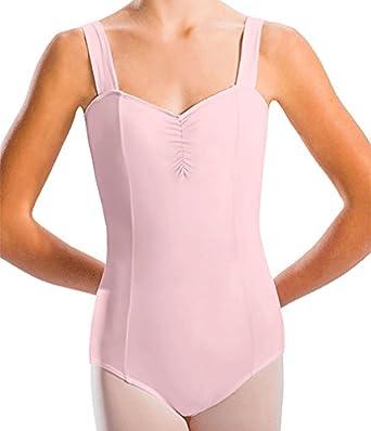Motionwear Women's Wide Strap Cami Leotard XL BURGUNDY