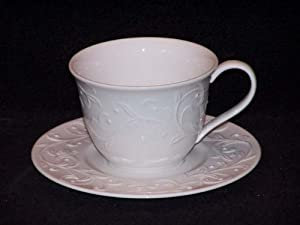 Lenox Opal Innocence Carved Cups & Saucers