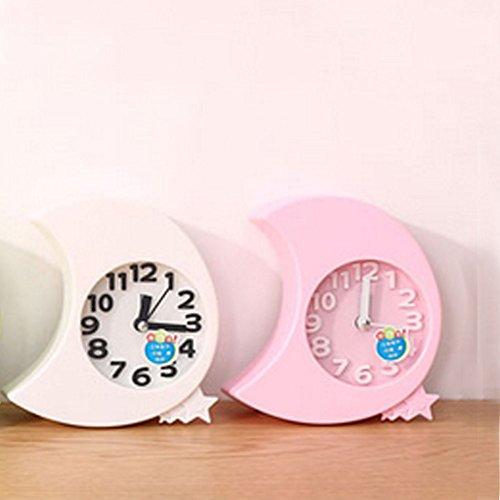 Mini Battery Operated chevet numérique silencieuse réveil pour enfants ( C )