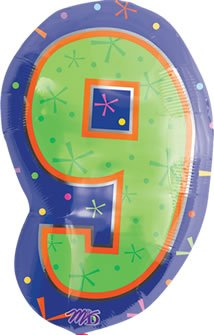 "Anagram International 1267601 Shape 9 Balloon Pack, 18"", Multicolor"