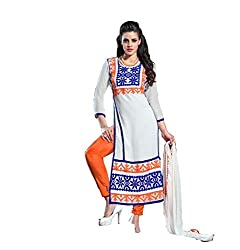 Aarna Fashion Cool White Dress Materials