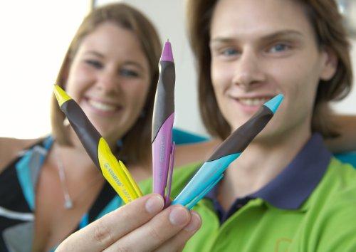 Stabilo EASYgel 5892/1-41 - Bolígrafo de tinta gel para diestros, color turquesa y marrón