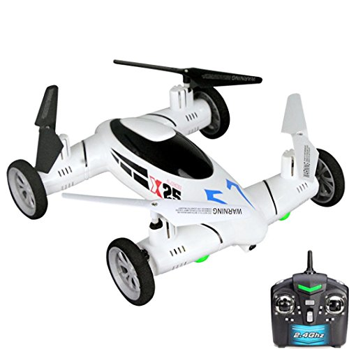 Perman X25 2.4G RC Quadcopter Drone Sky and Land High-Speed Racing Car 8CH 6 Axis Gyro UFO without Camera RTF