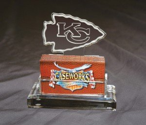 NFL Kansas City Chiefs Business Card Holder in Gift Box by Caseworks