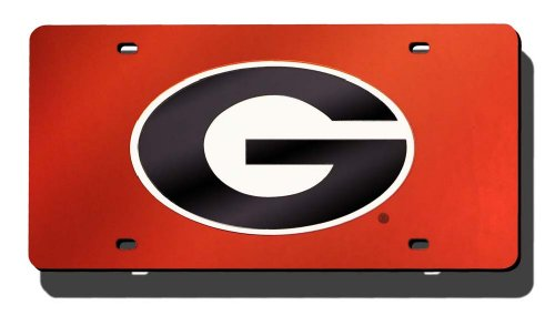 NCAA Georgia Bulldogs Bulldogs Laser-Cut Auto Tag (Bulldogs License Plate compare prices)