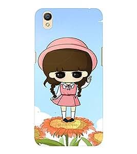 EPICCASE Flower and Girl Mobile Back Case Cover For OPPO A37 (Designer Case)