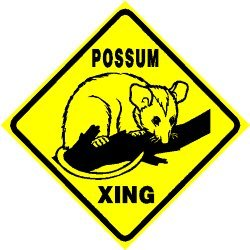 POSSUM CROSSING opossum marsupial NEW sign