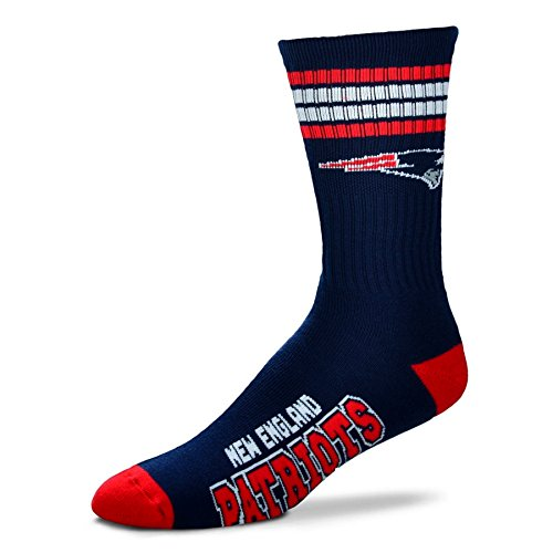 NFL 4 Stripe Deuce Socks - Men's Large (fits 10-13) (New England Patriots) (Cowboys Nfc East Champions Shirt compare prices)