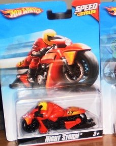 hot wheels speed cycles night storm r7846 - 1