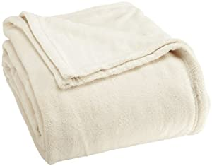 Springs Home Coral Fleece Blanket, King, Ivory