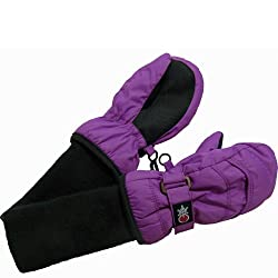 SnowStoppers Kids Nylon Waterproof Snow Colorful MittensMedium / 2-5 YearsDeep Lilac