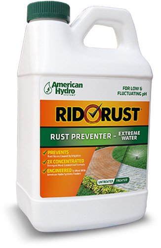 American Hydro Systems RR2 Rid O' Rust Extreme Water 2X Concentration Stain Preventer, 1/2-Gallon Bottle