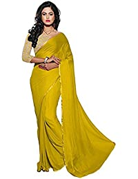 Fantastic Trendz Chiffon Saree For Women With Lace Border And Embroidered Blouse Piece
