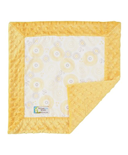 Baby Girl Lovey/Security Blanket - Yellow willow flowers - 1