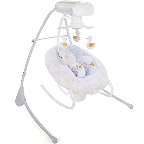 Fisher-Price My Sweet Swan 2-in-1 Deluxe Cradle 'n Swing