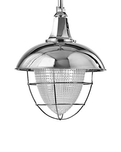 Hudson Valley Lighting Keene 1-Light Pendant, Polished Nickel/Clear