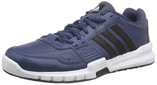 Adidas Essential Star .2 Scarpe da corsa, Uomo, Multicolore (Azul / Negro / Verde (Azumin / Negbas / Eqtver)), 42 2/3