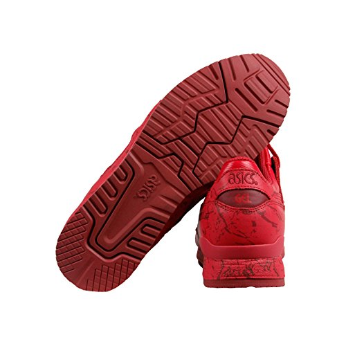 Asics Gel Lyte Iii Marble Pack Mens Red Leather Lace Up