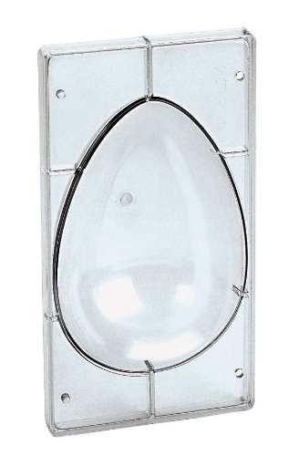 Paderno World Cuisine 10 1/4 Inch by 7 1/8 Inch Polycarbonate Chocolate Egg Mold