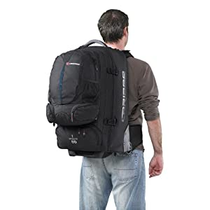 Sky Master 80 Wheeled Travel Pack/ Rucksack with Wheels (black/blue)