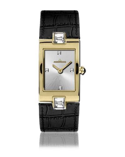 Jacques Lemans Reloj de cuarzo Vedette 1-1423 Negro 20  mm