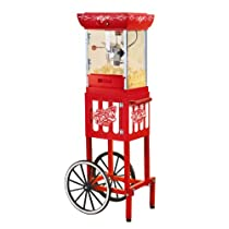 Nostalgia Electrics CCP399 Vintage Collection 48-Inch Old Fashioned Movie Time Popcorn Cart