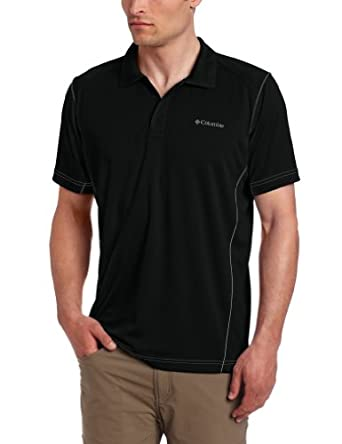 Columbia Men's Blasting Cool Polo, Black, Small