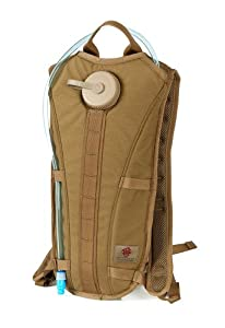 Tacprogear H2O On the Go Hydration Pack, Coyote Tan, 3-Liter by Tacprogear