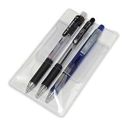 BAU46502 Baumgartens Pocket Protectors, for Pen Leaks, Clear (48 count)