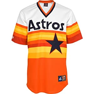Majestic Athletic Houston Astros Blank Replica Cooperstown Alternate Jersey by Majestic Athletic