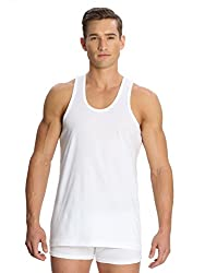 Jockey White Vests - Pack of 6 (Large)