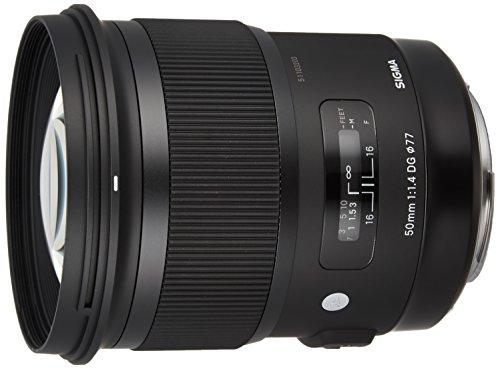 Sigma Obiettivo, 50 mm-F/1.4 (A)-AF DG HSM, Attacco Canon, Nero