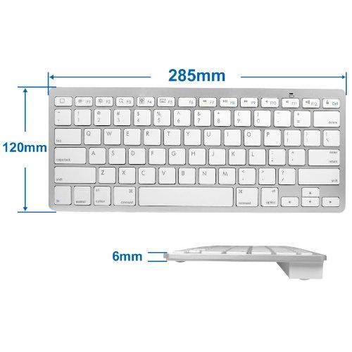Imagen de Anker ® ??Ultra Slim Mini Teclado Bluetooth inalámbrico para iPad 4 / iPad nueva 3 / iPad 1 / iPad 2 / Mac OS X / iPod Touch / Android Tablet 3.0 y posteriores
