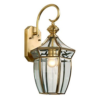 1 Light Golden Wall Light in Antique Style - LemonGrasshgchy