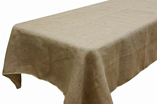 AK TRADING Rectangle Rustic Burlap Tablecloth, 60