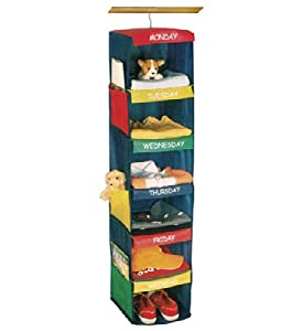 KIDS DAILY ACTIVITY ORGANIZER - 6 SHELF HANGING CLOSET