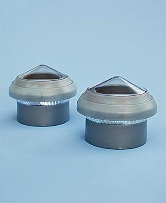 the solar post caps set of 4 for chain link fences. Black Bedroom Furniture Sets. Home Design Ideas