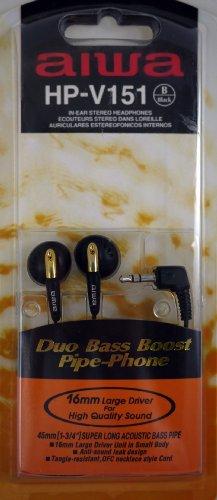 Aiwa Hp-V151 In-Ear Enhanced Dynamic Duo Base Boost Stereo Headphone