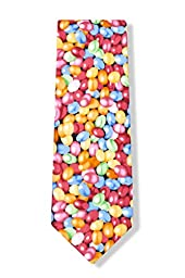 Jelly Beans Microfiber Red Microfiber Tie