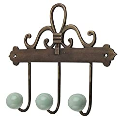 Handmade IndianShelf Solid Hooks Sage Green Ceramic Iron Cabinet Coat Mugs Key Hat Clothes Holder Online