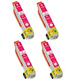 4x Compatible T2433 MAGENTA, EPSON 24LX High Capacity XL Ink Cartridges for Epson Expression Premium XP-750, XP-850. Replace the (ELEPHANT) 24 SERIES. 12ml each