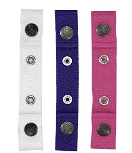 Dapper Snapper Baby & Toddler Adjustable Belt 3 Pack ~ Pink, White & Purple - 1