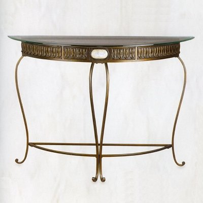 Cheap Iron Console Table With Beveled Glass Top (B000PBNFC4)