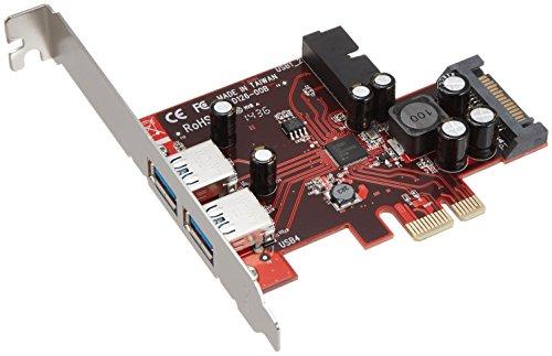 玄人志向 USB3.0増設ボード PCI-Express x1 (Gen.2) 用 外部2ポート+内部19ピン Renesas製チップ搭載 ロープロファイル対応 USB3.0R-P2H2-PCIE