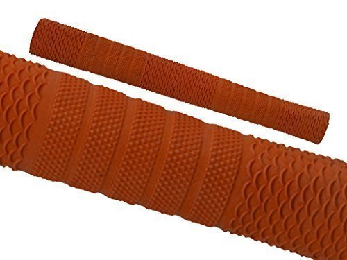 Cricket Schläger Griffe Rutschfest Ersatz Griffe Oktopus Spiral Design - Orange Stil S03