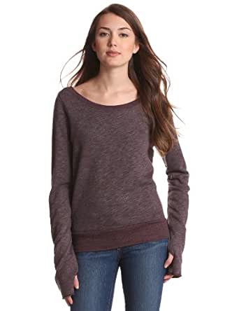 SOLOW Women's V-Back Pullover, Acai Berry, Small at Amazon Women's